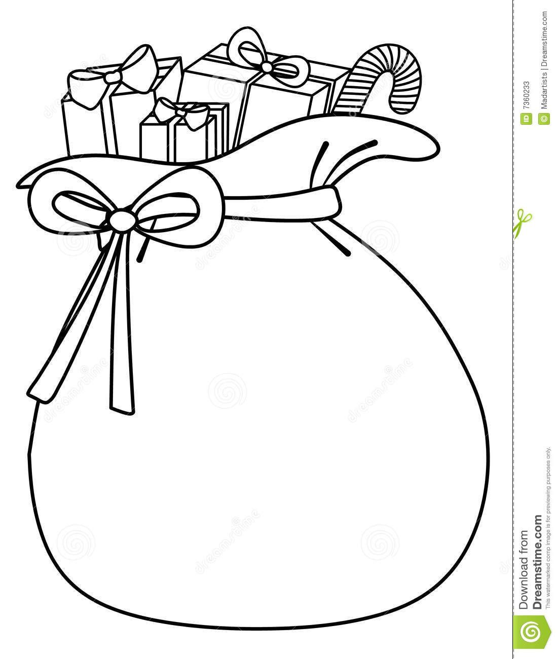 Santa Sack Of Toys Background Stock Photos.