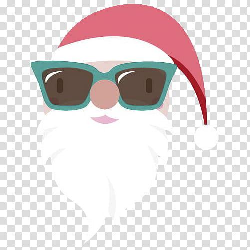 Hipster Xmas, Santa Claus wearing sunglasses transparent.