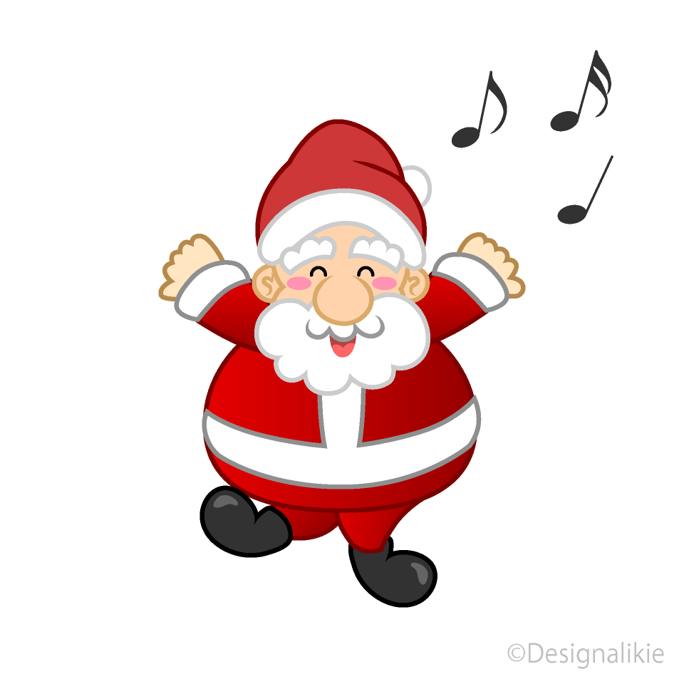 Dancing Santa Clipart Free Picture|Illustoon.