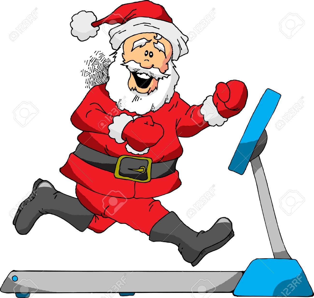Santa exercising clipart 6 » Clipart Portal.