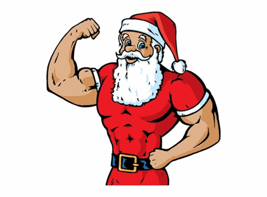 Clipart Santa Fitness.