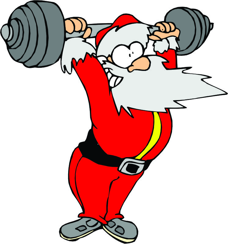 Santa Exercising Cliparts.