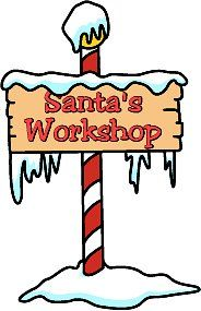 Santa Workshop sign from cardboard.