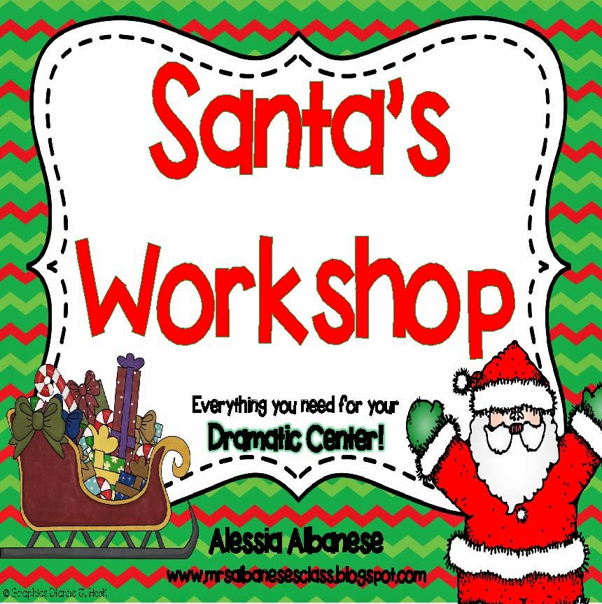 santas workshop clipart.