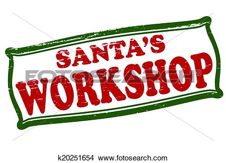 Clipart of Santa workshop k20251654.