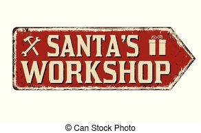 Santa\'s workshop Clipart Vector Graphics. 447 Santa\'s.