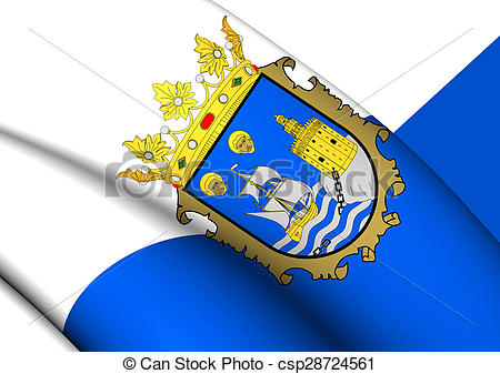 Stock Illustration of Flag of Santander, Spain..