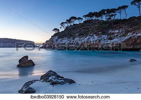 """Stock Photography of """"Coast at dawn, Calo des Moro, Santanyi."""