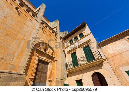 Picture of Majorca Santanyi village Sant Andreu church in Mallorca.
