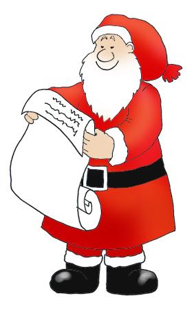 Funny Santa Clipart.