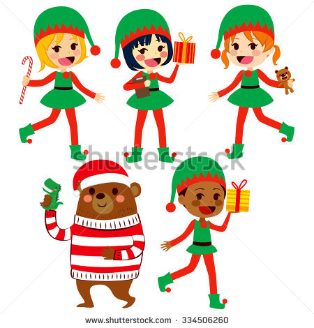 Santa Helper Stock Photos, Royalty.