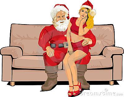 Sexy Santa Claus Clipart.
