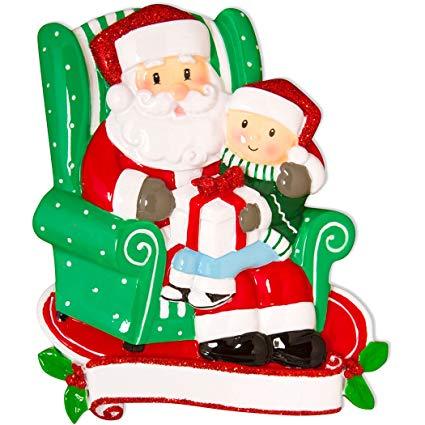 Amazon.com: Personalized Child Sitting on Santa\'s Lap.