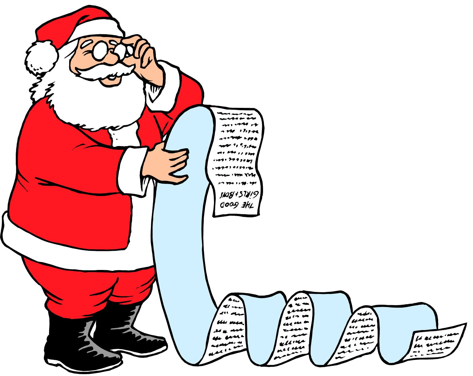 Checking Santa\'s List for the Party.