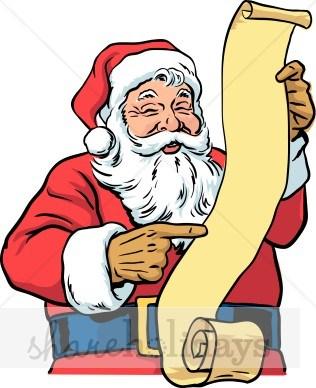 Santas list clipart » Clipart Portal.