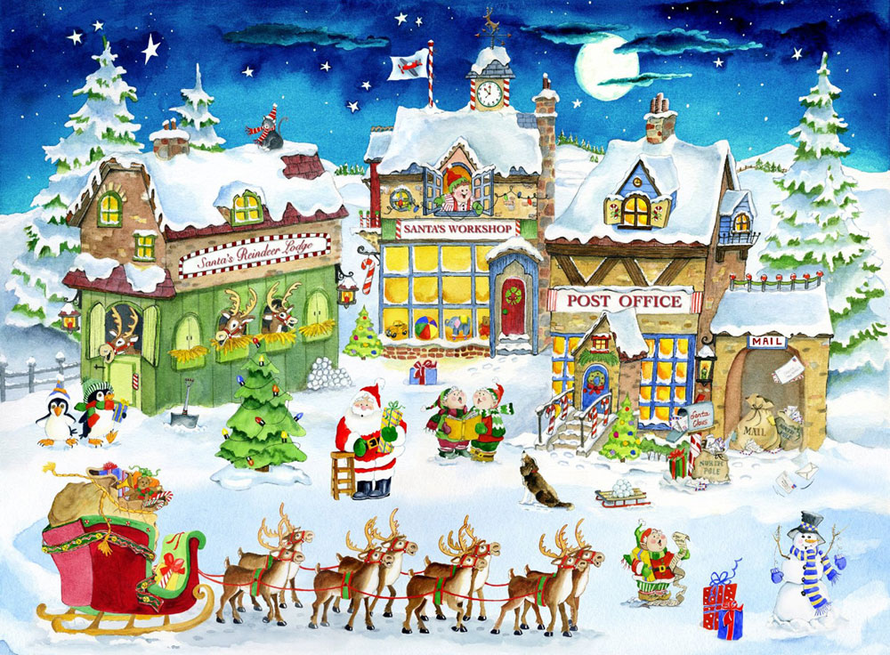 Christmas Village Clipart Group with 72+ items.