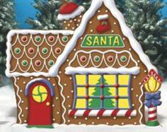 Santa's House Clipart.