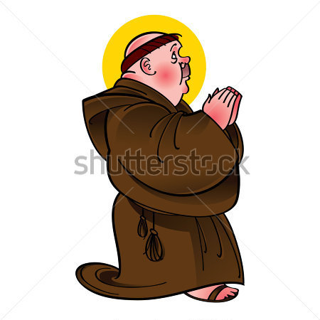 Franciscan Monk Clipart.