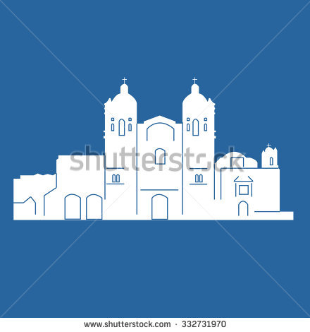 Church Of Santo Domingo De GuzmãƒÂ¡N (Oaxaca, Mexico) Stock Vector.