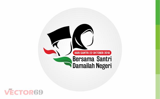 Logo Resmi Hari Santri Nasional (HSN) 2018 (CDR + PNG.