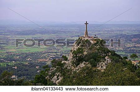 Stock Photo of View from Puig de Sant Salvador onto Creu d'es.