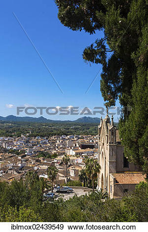 """Stock Photograph of """"View of the town of Arta, pilgrimage church."""