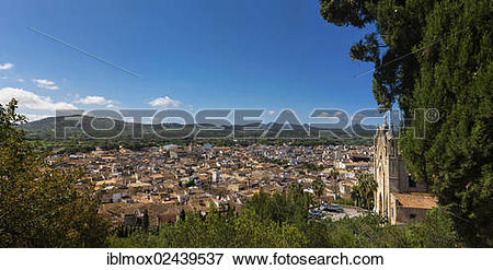 """Picture of """"View of the town of Arta, pilgrimage church of."""
