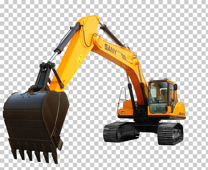 Excavator Heavy Machinery Bulldozer Sany, excavator PNG.