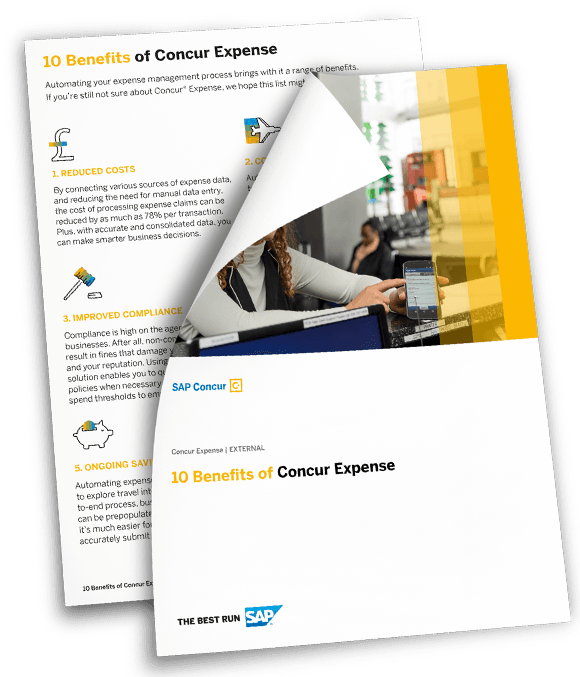 HD Sap Concur 10 Benefits.