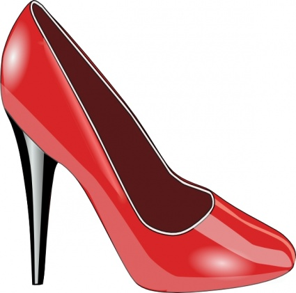 Red Patent Leather Shoe clip art Clipart Graphic.