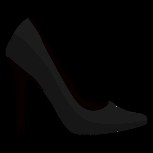 Salto de sapato de salto agulha de estilete plana.