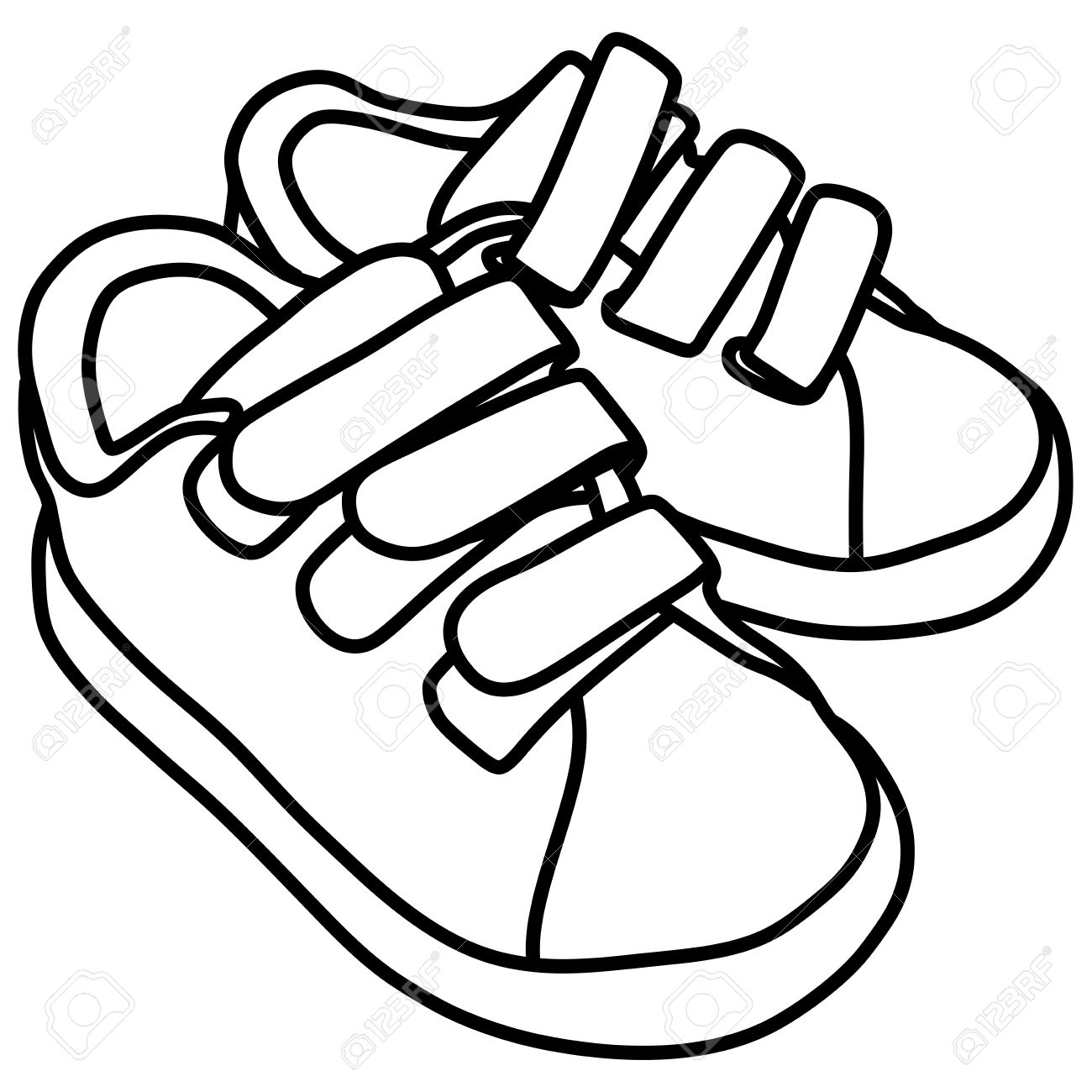 Sapatos clipart black and white » Clipart Station.