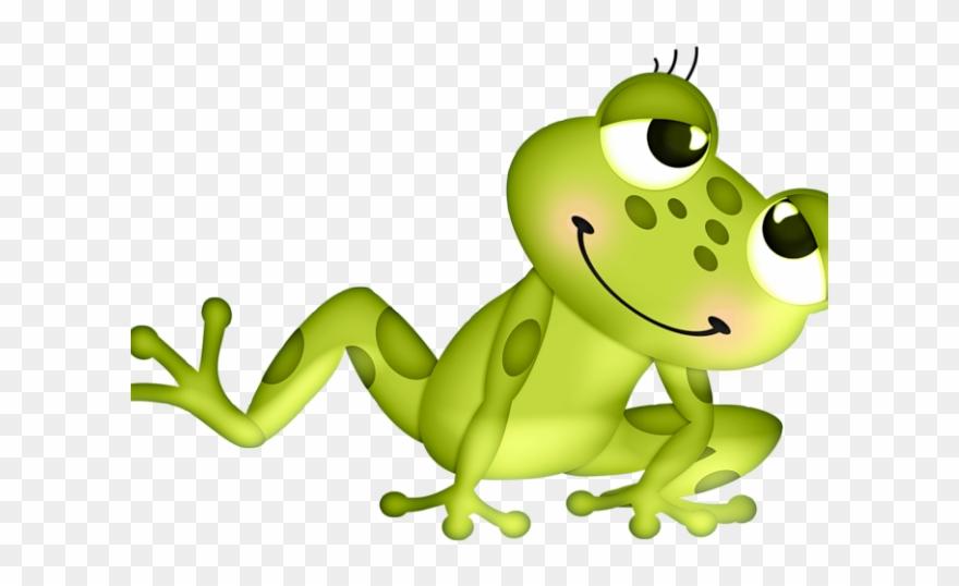 Green Frog Clipart Girl.