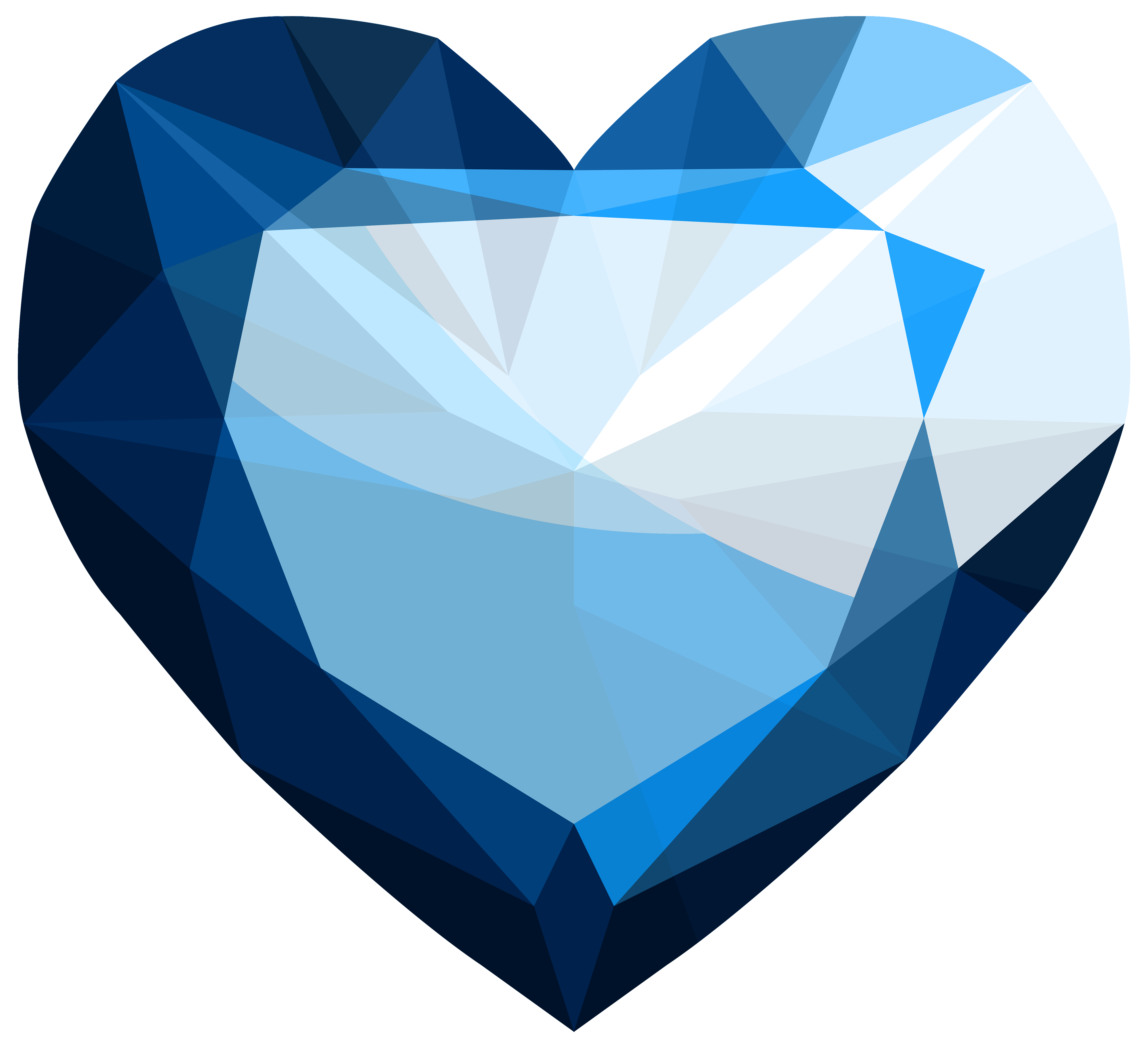 Sapphire Heart PNG Clipart.