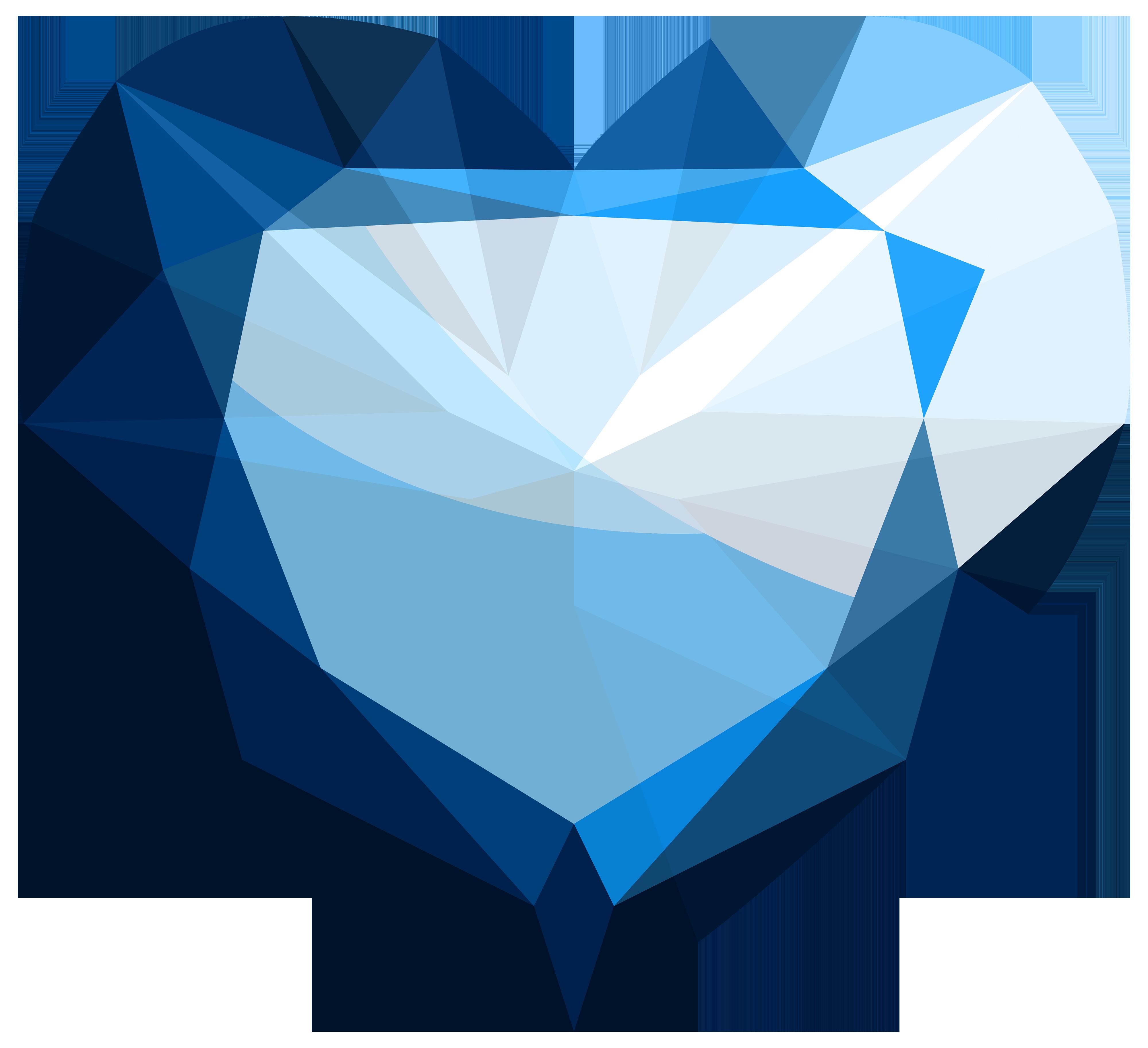 Sapphire Heart PNG Clipart.