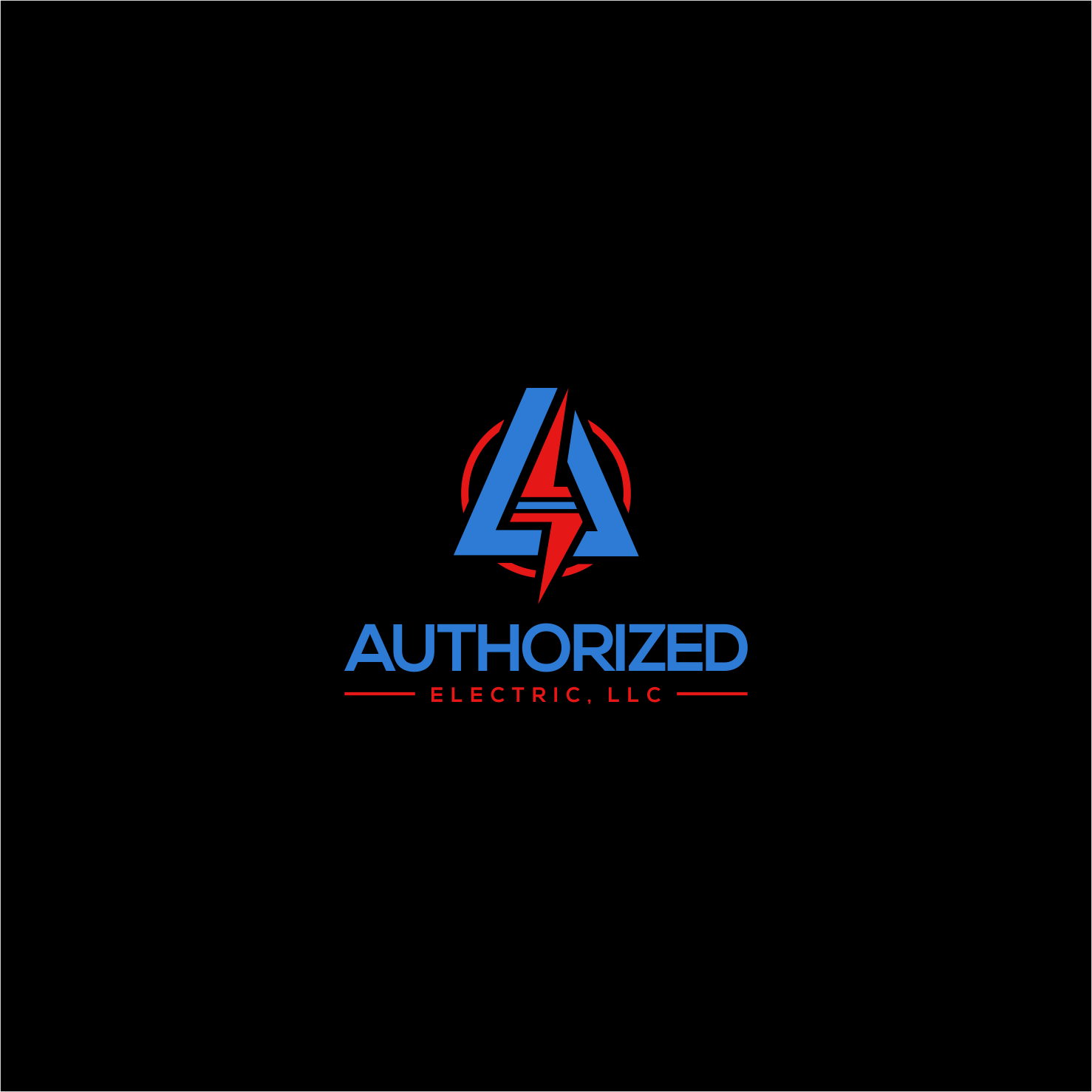 Bold, Modern, Electrician Logo Design for Authorized.
