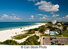 Stock Images of Siesta Key Beach Sarasota Florida.