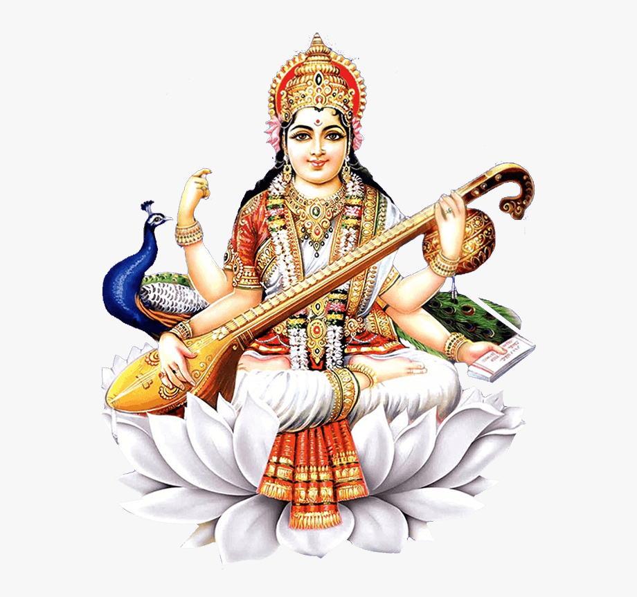 Devi Saraswati , Transparent Cartoon, Free Cliparts.