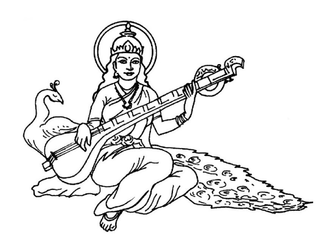Goddess Saraswati Mata is a symbol of education for devotees.