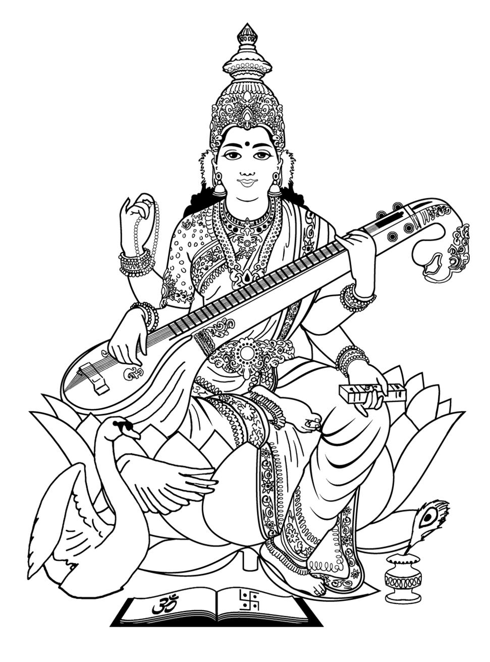 61 Interesting How To Draw Saraswati.