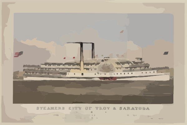 Steamers City Of Troy & Saratoga Clip Art at Clker.com.