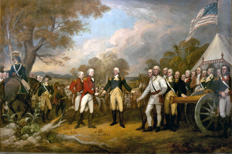 Surrender of General Burgoyne at Saratoga during the American.