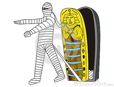 Showing post & media for Cartoon mummy coffin clip art.