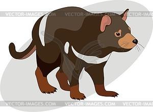 Sarcophilus Harrisii Tasmanian Devil Vector Clipart #ceJAD9.