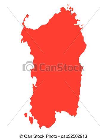Vector Clip Art of Map of Sardinia csp32502913.