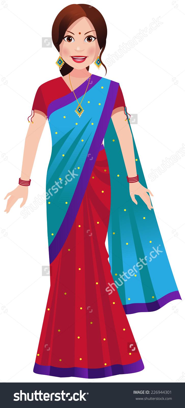Indian Saree Clipart.