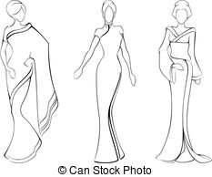 Woman in saree clipart.