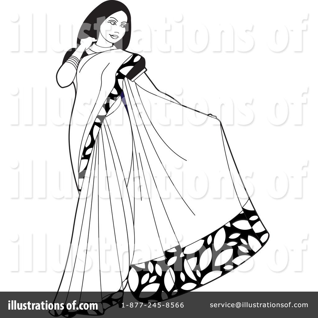 Saree Sari Clip Art.
