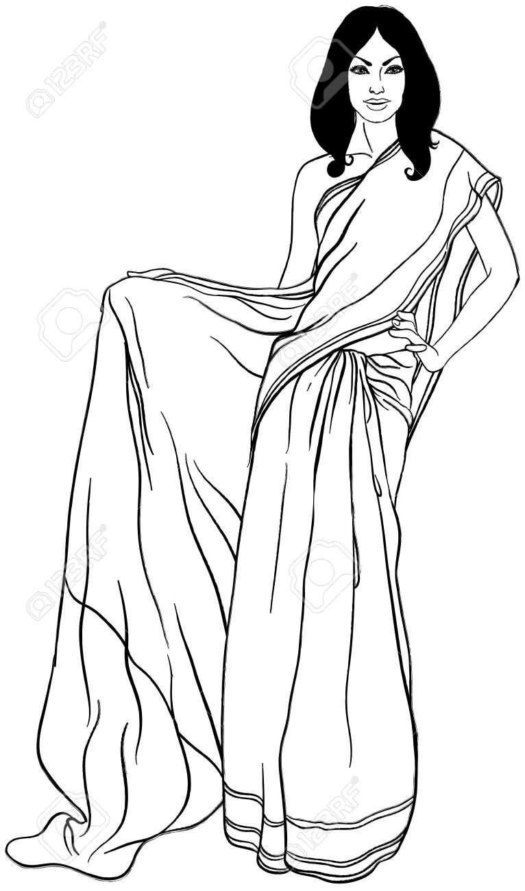 Indian Saree Clipart.