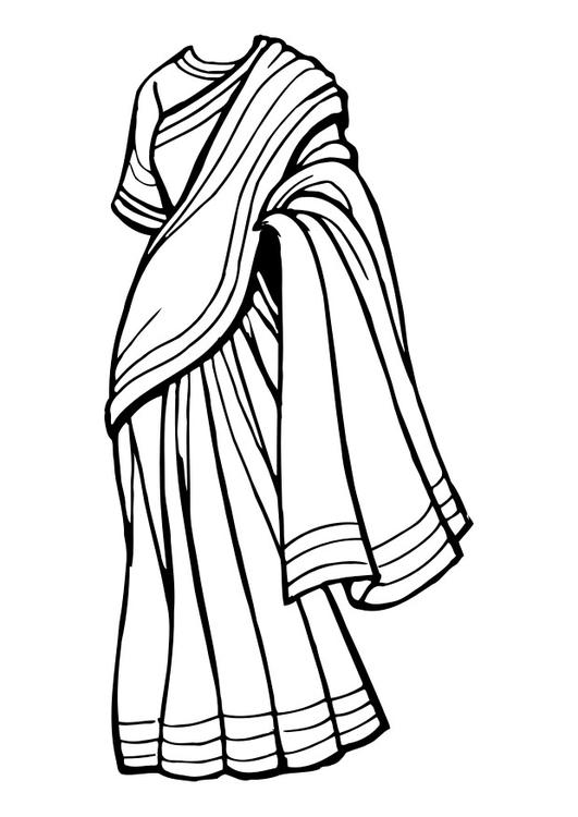 Saree Drawing.